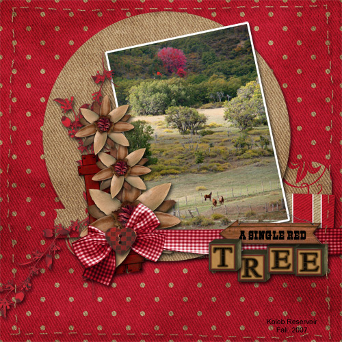A-Single-Red-Tree